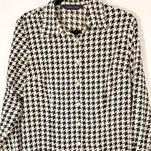 Preston & York black and white blouse